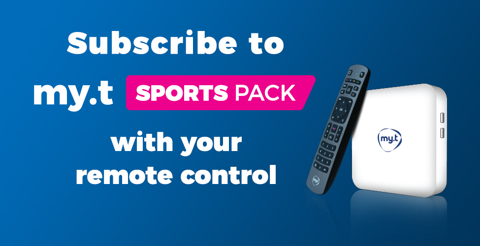 Abonnez-vous au Sports Pack de my.t directement de votre télécommande