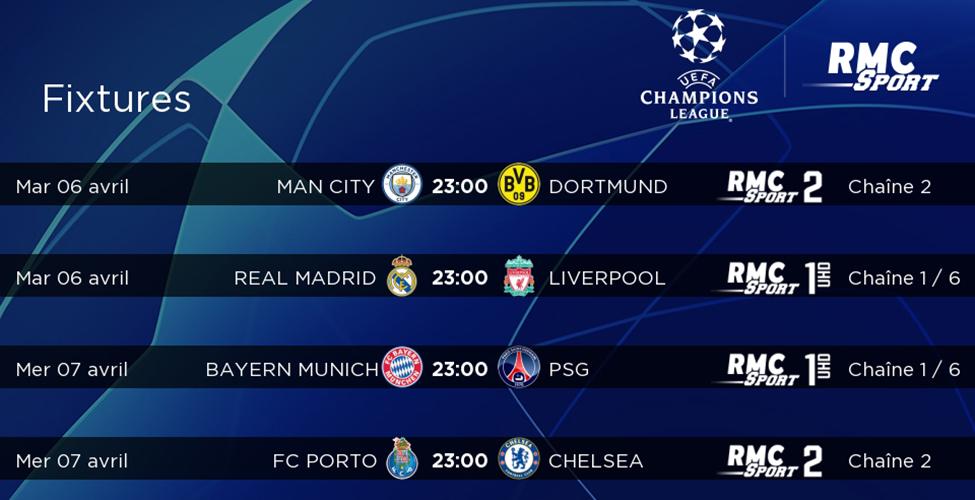 Quarts de finale de la Champions League : les meilleures équipes d'Europe s'affrontent en LIVE sur my.t