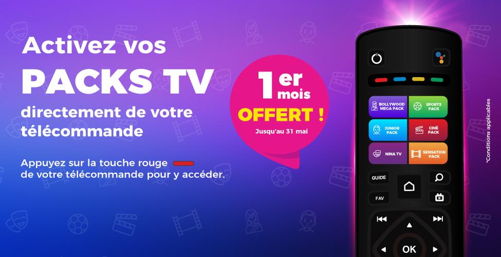 Abonnez-vous à un Pack TV my.t directement de votre télécommande ; le premier mois vous est offert