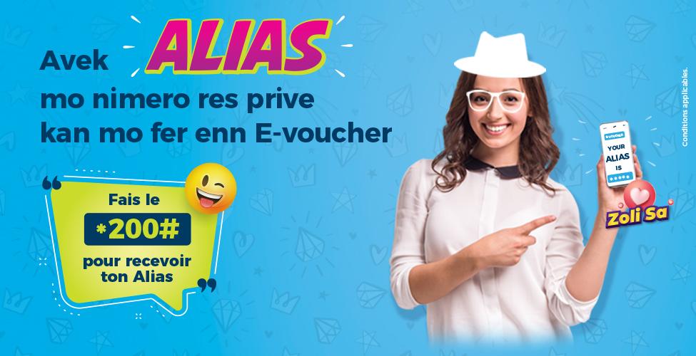 Mauritius Telecom lance Alias, un nouveau service qui vous permet d'acheter un E-Voucher sans donner votre numéro