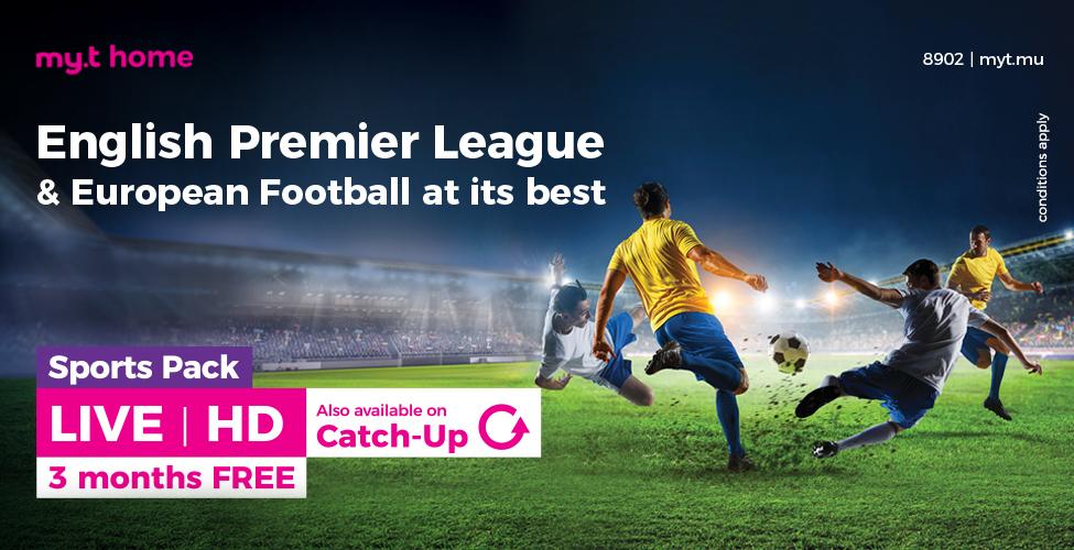 Retrouvez l'English Premier League et le meilleur du foot sur my.t
