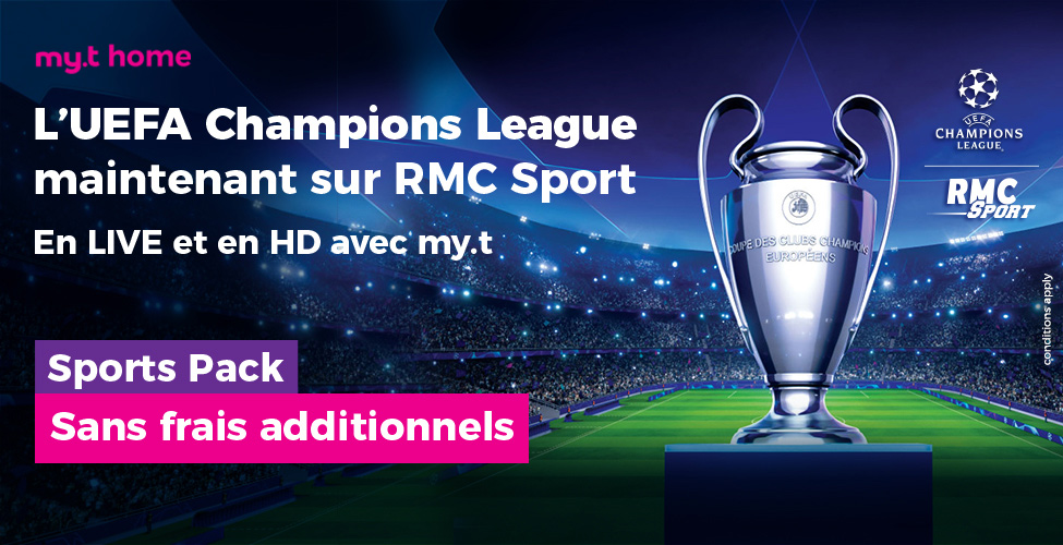 Encore plus de foot sur my.t : tous les 16 matches de chaque journée de la Champions League en Live