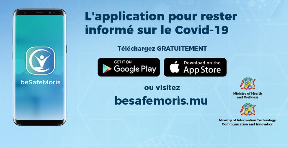 Covid-19 : beSafeMoris, une application signée Mauritius Telecom en collaboration avec le ministère de la Santé et du Bien-être