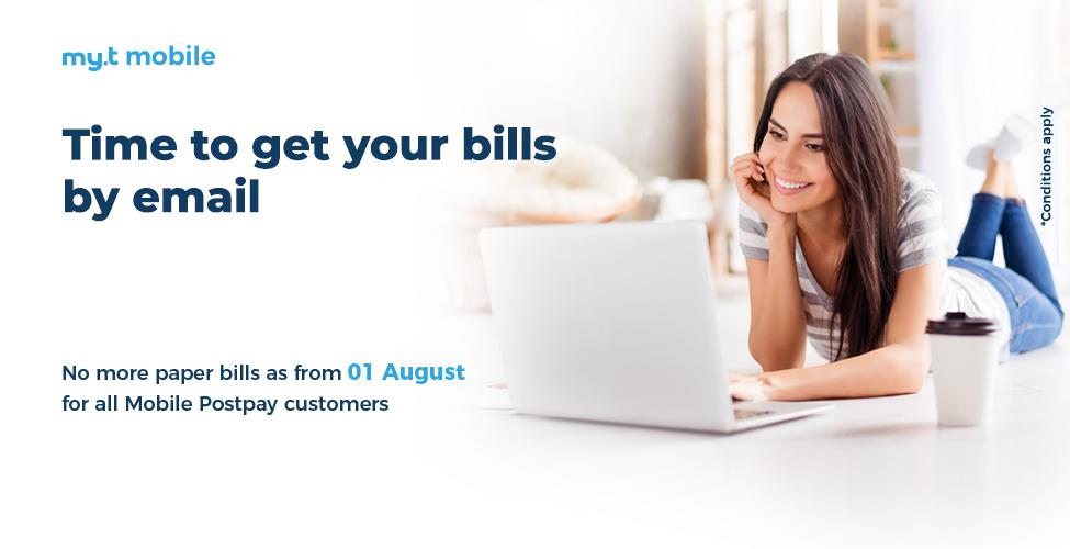 Clients my.t mobile postpay, recevez vos factures par email
