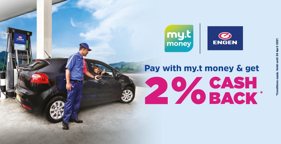 Stations-service Engen : payez avec my.t money et obtenez 2% de Cashback