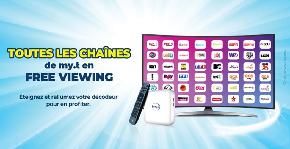 Prolongement du FREE VIEWING des chaînes my.t