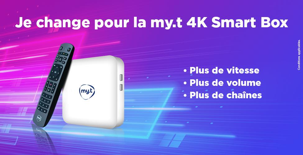 Echangez votre décodeur contre la my.t 4K Smart Box et bénéficiez de nombreux avantages