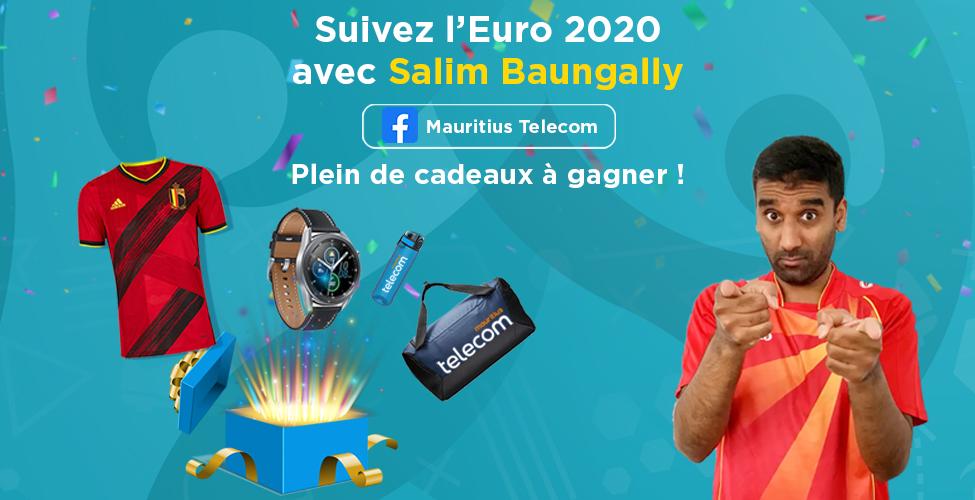 Vivez l'Euro 2020 au rythme de Salim Baungally ; participez au jeu-concours et remportez de superbes cadeaux