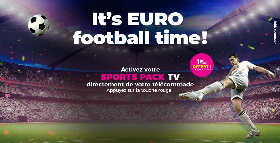 Abonnez-vous au Sports Pack de my.t directement de votre télécommande et vivez l'Euro 2020 en direct et en intégralité