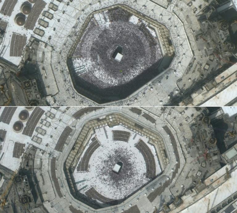 Des vues aériennes de sites célèbres désertés montrent l'impact du coronavirus