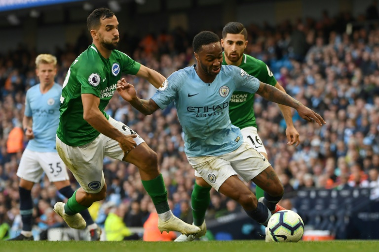 Sterling stars as Man City beat Brighton