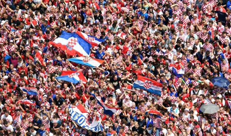 Mondial-2018: liesse rouge et blanche en Croatie