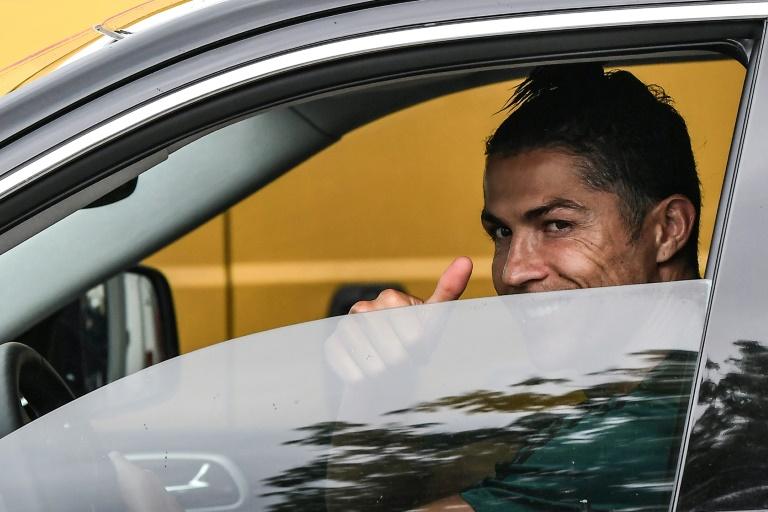 Ronaldo back training at Juventus after two months