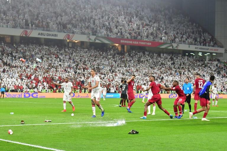 Asian Cup hosts UAE punished for shoe, bottle barrage